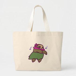 Hula Sloth Large Tote Bag