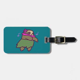 Hula Sloth Luggage Tag