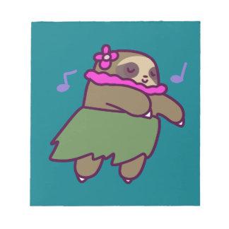 Hula Sloth Notepad
