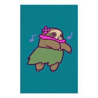 Hula Sloth Personalized Stationery