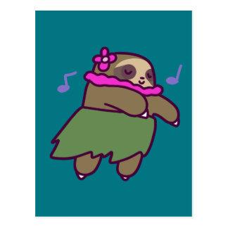 Hula Sloth Postcard