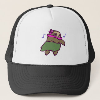 Hula Sloth Trucker Hat