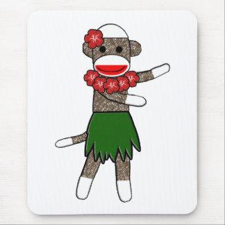 Hula Sock Monkey Mousepad