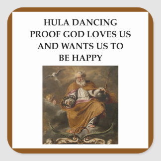 HULA SQUARE STICKER