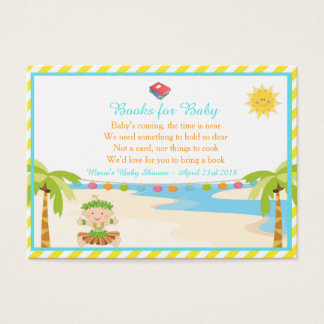 Hula Tropical Boy Book Request for Baby Shower Business Card
