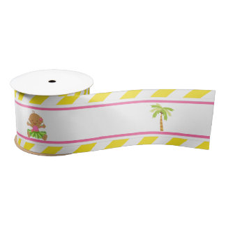 Hula Tropical Girl Satin Ribbon