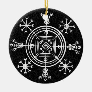 Hulinhjalmur Icelandic magical sign Ceramic Ornament