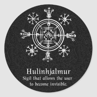 Hulinhjalmur Icelandic magical sign Classic Round Sticker