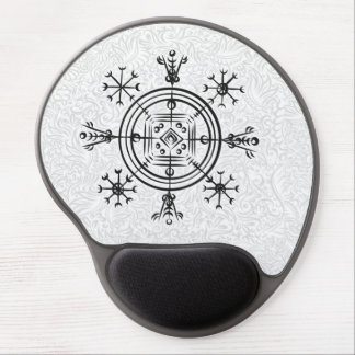 Hulinhjalmur Icelandic magical sign Gel Mouse Pad