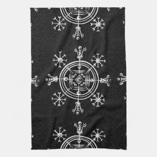 Hulinhjalmur Icelandic magical sign Kitchen Towel