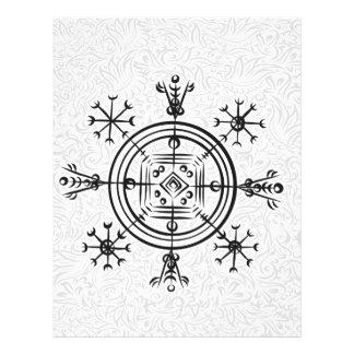 Hulinhjalmur Icelandic magical sign Letterhead