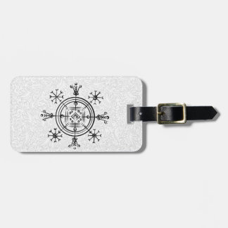 Hulinhjalmur Icelandic magical sign Luggage Tag