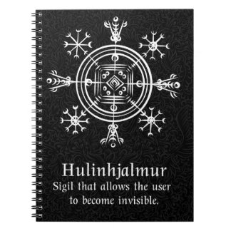 Hulinhjalmur Icelandic magical sign Notebook