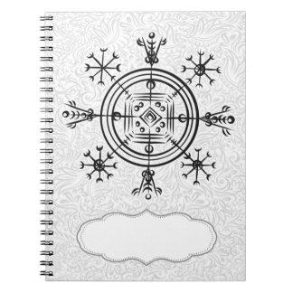 Hulinhjalmur Icelandic magical sign Notebook