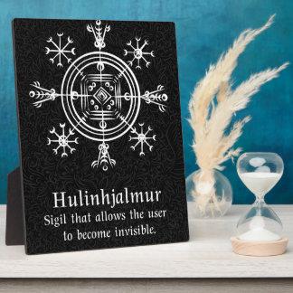 Hulinhjalmur Icelandic magical sign Plaque
