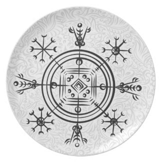 Hulinhjalmur Icelandic magical sign Plate