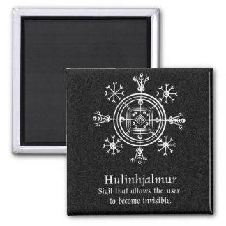 Hulinhjalmur Icelandic magical sign Square Magnet