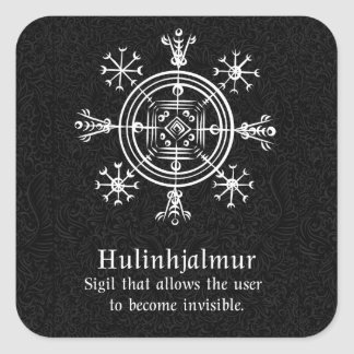 Hulinhjalmur Icelandic magical sign Square Sticker