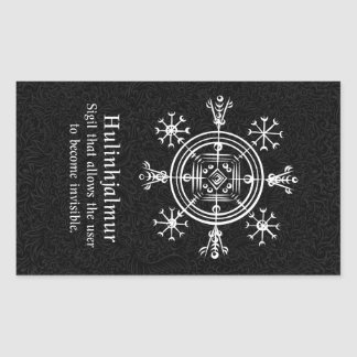 Hulinhjalmur Icelandic magical sign Sticker