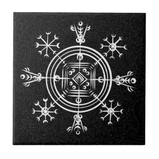 Hulinhjalmur Icelandic magical sign Tile