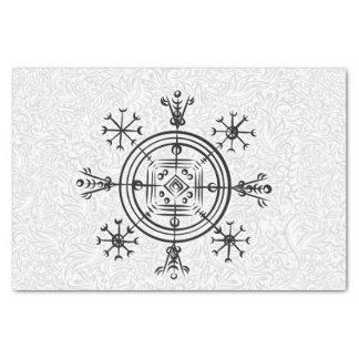 Hulinhjalmur Icelandic magical sign Tissue Paper