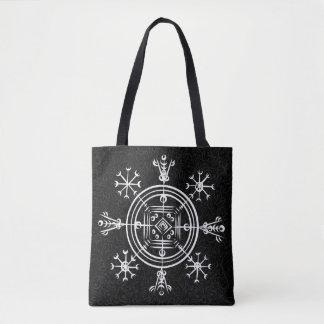 Hulinhjalmur Icelandic magical sign Tote Bag