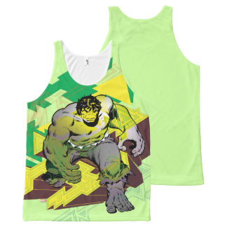 Hulk Abstract Graphic All-Over-Print Tank Top