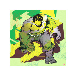 Hulk Abstract Graphic Canvas Print