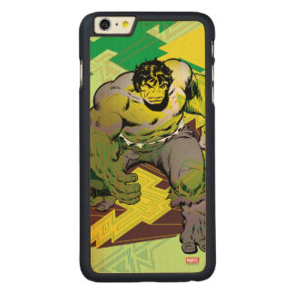 Hulk Abstract Graphic Carved Maple iPhone 6 Plus Case