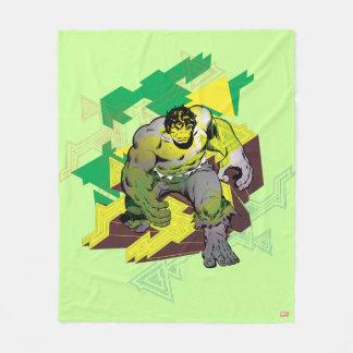 Hulk Abstract Graphic Fleece Blanket