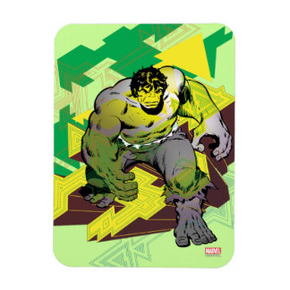 Hulk Abstract Graphic Magnet