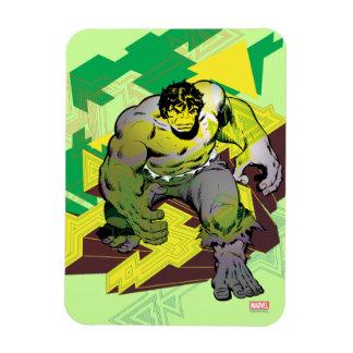 Hulk Abstract Graphic Rectangular Photo Magnet