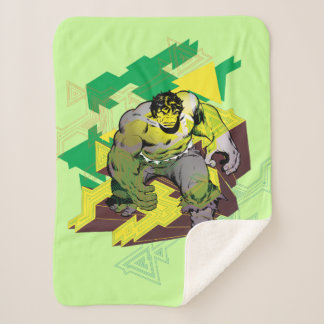 Hulk Abstract Graphic Sherpa Blanket