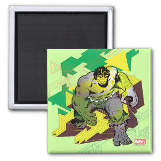 Hulk Abstract Graphic Square Magnet