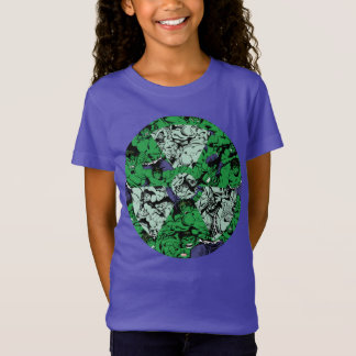 Hulk Comic Patterned Radioactive Symbol T-Shirt