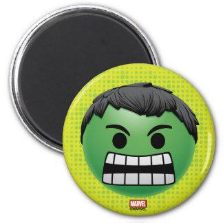 Hulk Emoji 2 Inch Round Magnet