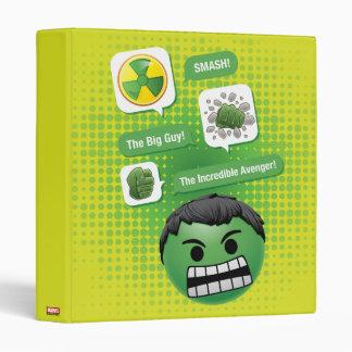 Hulk Emoji 3 Ring Binder