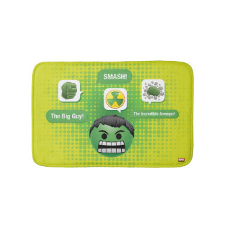 Hulk Emoji Bath Mat