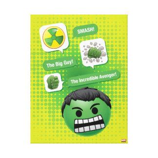 Hulk Emoji Canvas Print