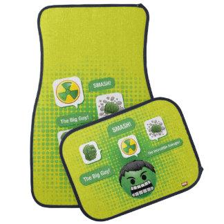 Hulk Emoji Car Mat