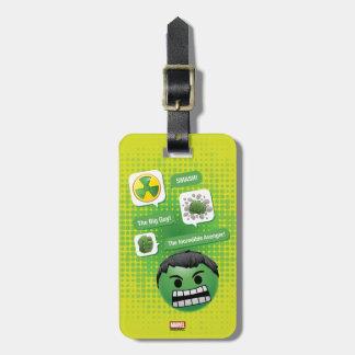 Hulk Emoji Luggage Tag