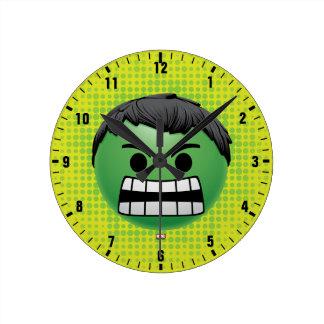 Hulk Emoji Round Clock