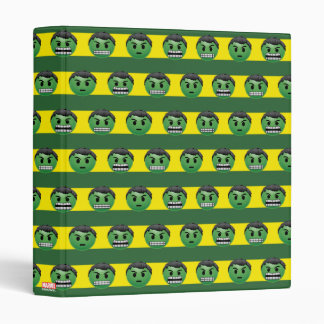 Hulk Emoji Stripe Pattern 3 Ring Binder