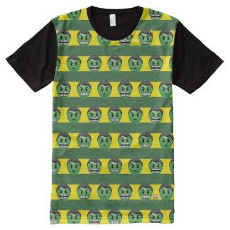 Hulk Emoji Stripe Pattern All-Over-Print T-Shirt