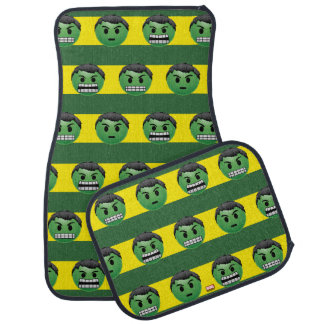 Hulk Emoji Stripe Pattern Car Mat