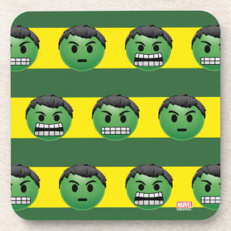 Hulk Emoji Stripe Pattern Coaster
