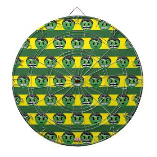 Hulk Emoji Stripe Pattern Dartboard With Darts
