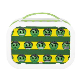 Hulk Emoji Stripe Pattern Lunchbox