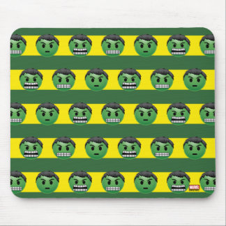 Hulk Emoji Stripe Pattern Mouse Pad