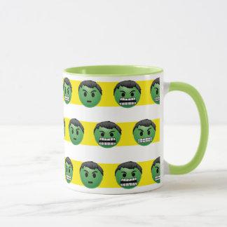 Hulk Emoji Stripe Pattern Mug